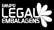 Logotipo Legal Embalagens - Branco